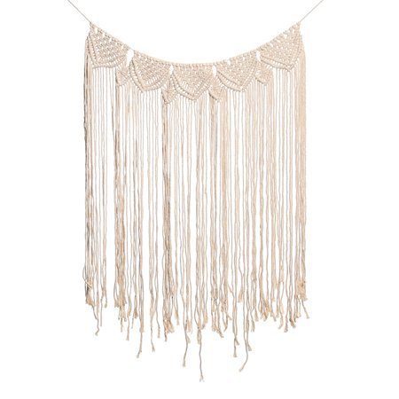 45''x32'' Handmade Bohemian Macrame Woven Wall Hanging  Knitted Tapestry Tassel Curtain Living Room Home Decor Wedding Backdrop Craft - image 4 of 7