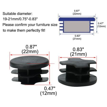 """Tube rond insère couvercle protecteur 0.75""""-0.83"""" Dia intérieur 8pcs - image 3 de 7"""