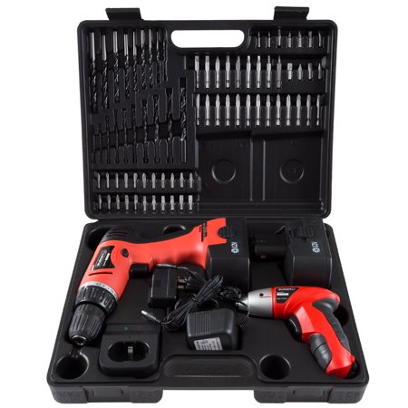 Stalwart 75-10601 12-Volt Cordless Drill and 3.6-Volt Driver with 74-Piece Project Kit