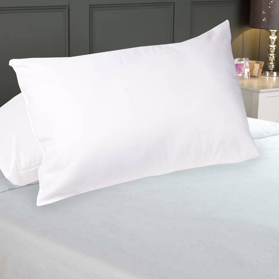 200 Thread Count Cotton Pillow Protectors with Zipper, 2-Pack by Generic