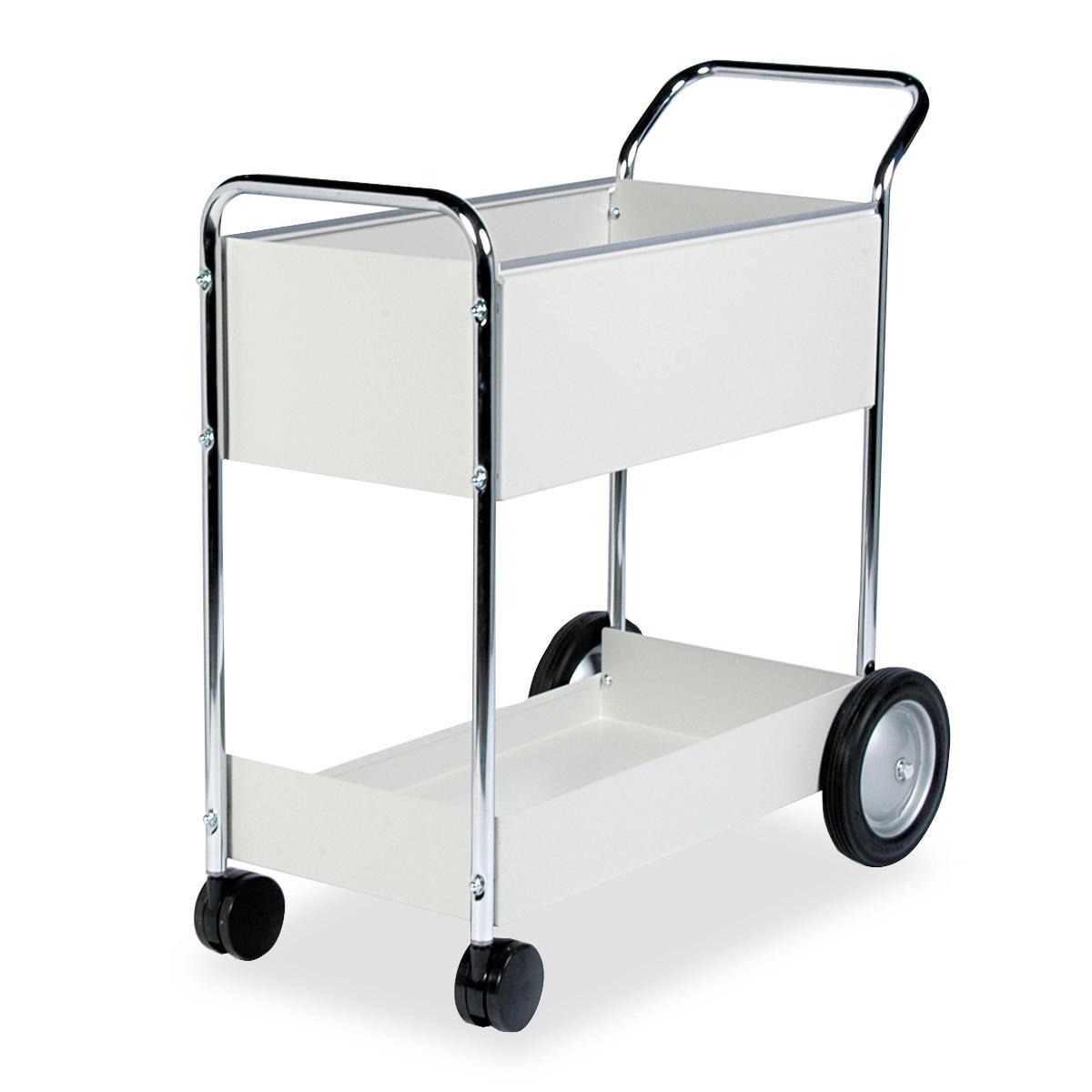 Fellowes Steel Mail Cart, 150-Folder Capacity, 20w x 40-1/2d x 39h, Dove Gray -FEL40922