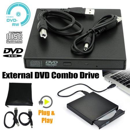 - Slim External USB 2.0 DVD RW CD Writer Drive Burner Reader Player For Laptop PC
