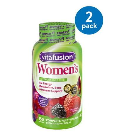 (2 Pack) Vitafusion Women's Gummy Vitamins, 150ct