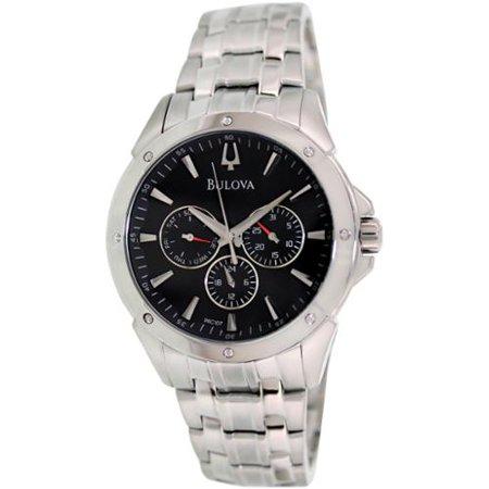 Bulova Men's Dress 96C107 Silver Stainless-Steel Quartz Watch