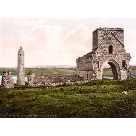 Devenish Island Ruins Ireland 1890s Poster Print by Science Source
