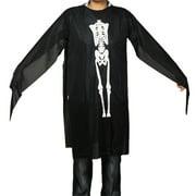 Child Halloween Costume Skeleton Ghost Robe Cloak Black US M