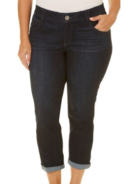 Democracy Plus Ab-Solution Roll Cuff Cropped Denim Jeans