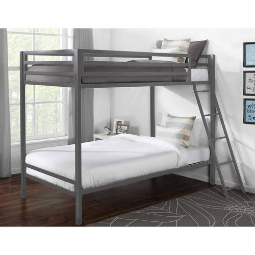 Mainstays Premium Twin Over Twin Metal Bunk Bed, Multiple Colors by Dorel Home Products