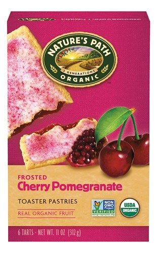 Nature's Path Organic Toaster Pastries Frosted Cherry Pomegranate 6 CT by Nature's Path
