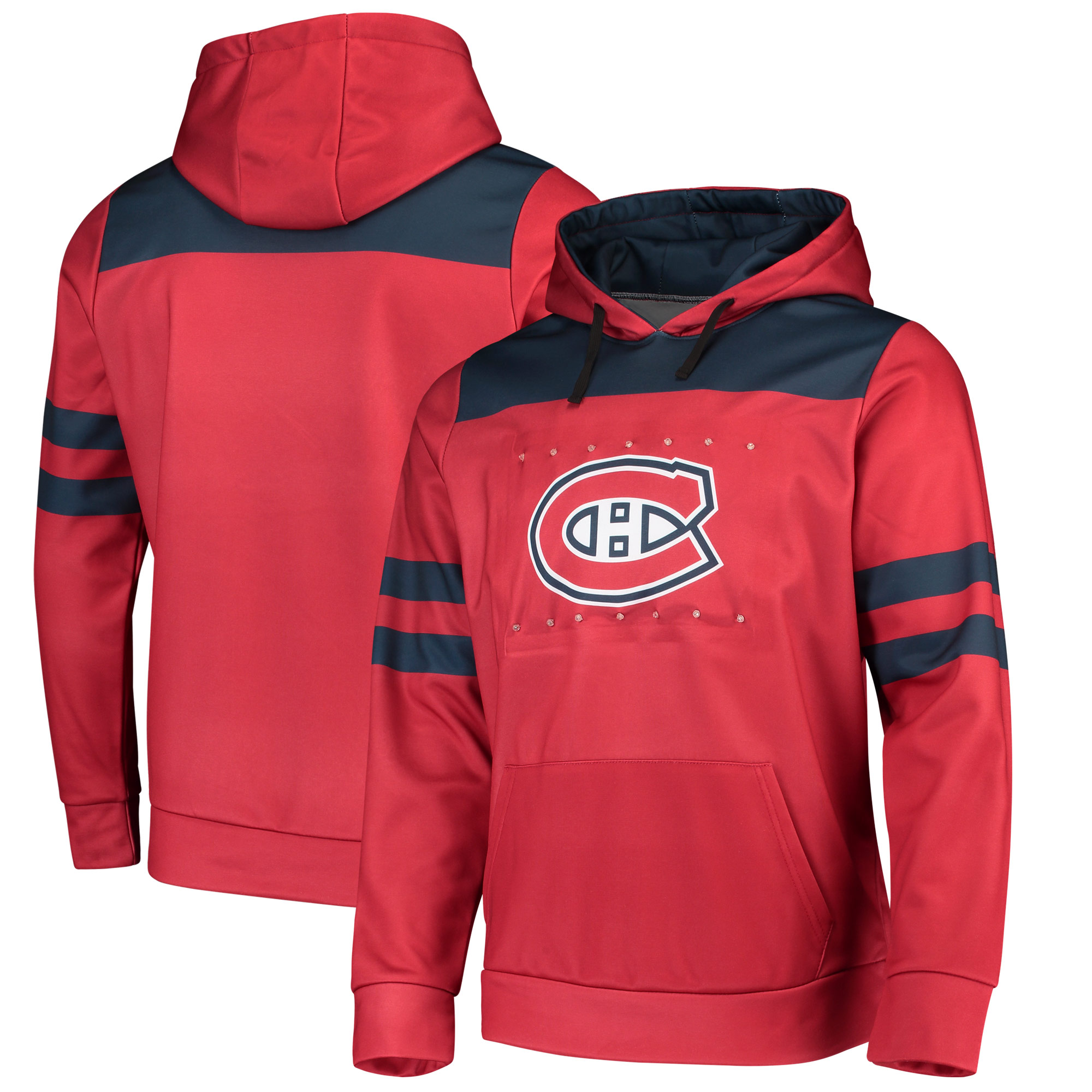 Montreal Canadiens Light Up Pullover Hoodie - Red
