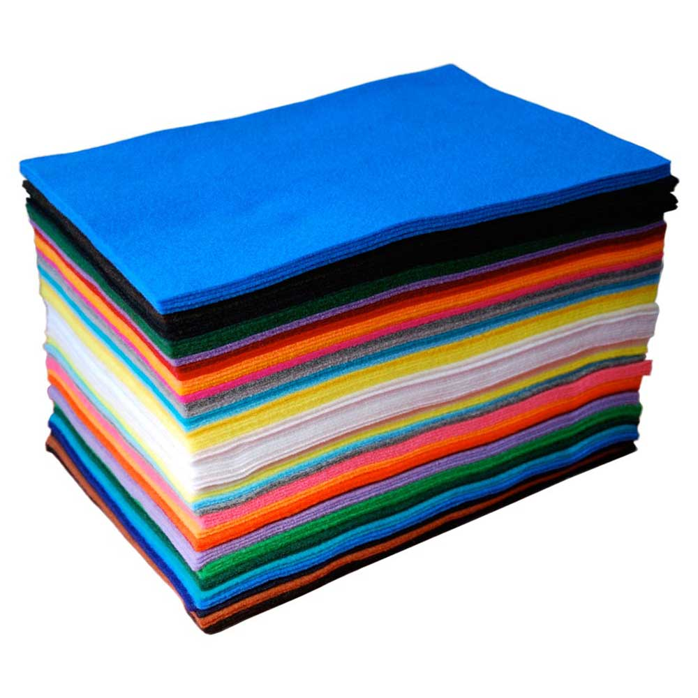 Acrylic Craft Felt: 100 Sheets, Assorted