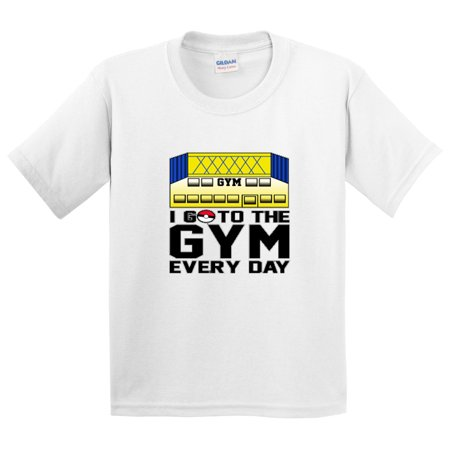 New Way 517 - Youth T-Shirt I Go To The Gym Every Day