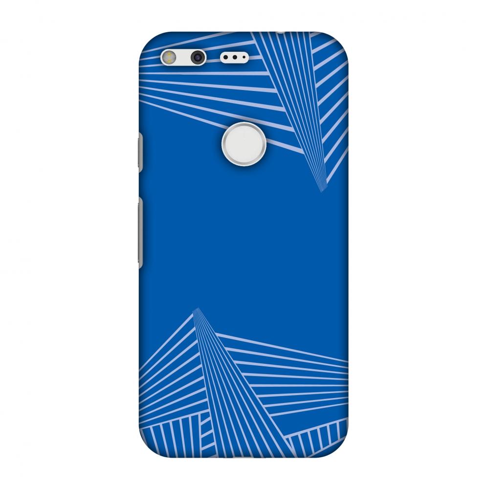 Google Pixel Case, Premium Handcrafted Printed Designer Hard Snap On Case Back Cover for Google Pixel - Carbon Fibre Redux Coral Blue 3