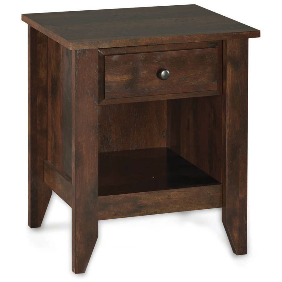 Better Homes & Gardens Leighton Night Stand, Rustic Cherry Finish