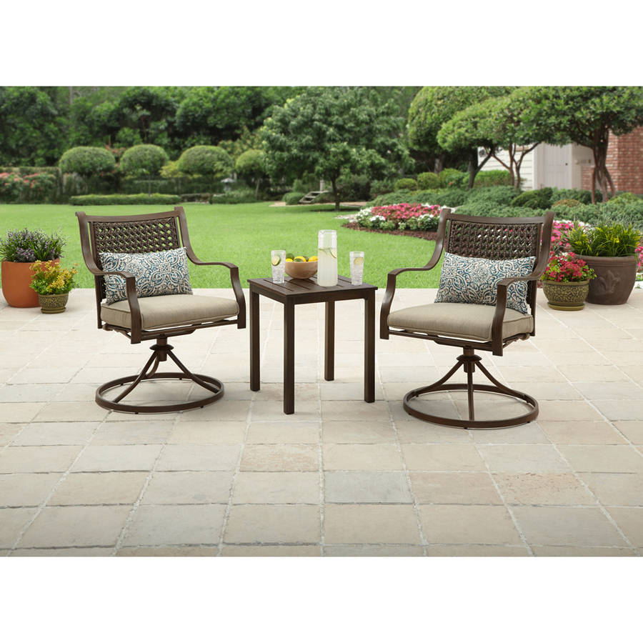 Better Homes & Gardens Lynnhaven Park 3 Piece Outdoor Chat Set