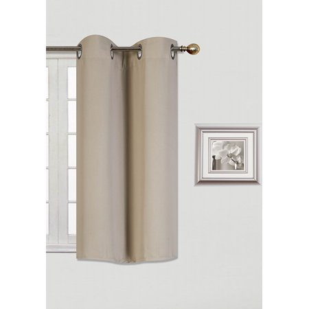 "(K30) Taupe Tan 2 Panel Silver Grommets Kitchen Tier Window Curtain 3 Layered Thermal Heavy Thick Insulated Blackout Drape Treatment Size 30"" Wide X 36"" Length"