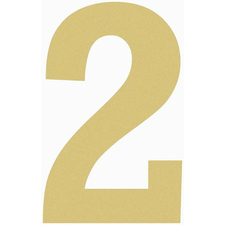 Unfinished Wooden Number 24'' (2), Paintable Wood Number Craft