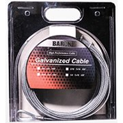 """Baron 50075 100' 3/16"""" 7x19 Galvanized Pre-Cut Cable"""