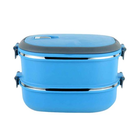 Single/Two Layers Rectangle Stainless Steel Lunch Box Insulated Thermos Bento School Student Children Food (Best Bento Lunch Box For Kids)