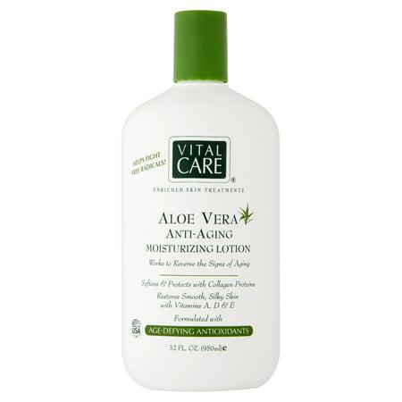 Vital Care Aloe Vera Anti-Aging Moisturizing Lotion, 32 fl oz