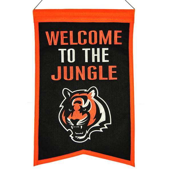 Cincinnati Bengals Wool Franchise Banner