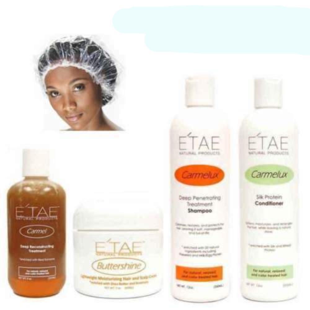 ETAE Natural Products 4 Product Kit + Free Shower Cap Unisex