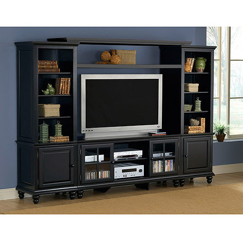 "Hillsdale Furniture Grand Bay Entertainment Center with Bridge for TVs up to 48"", Black"