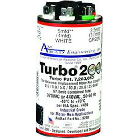 TURBO� 200 CAPACITOR, 2.5-67.5 MFD, 370 / 440