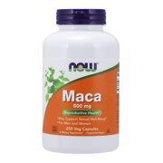 NOW Supplements, Maca (Lepidium meyenii) 500 mg, For Men and Women, Reproductive Health*, 250 Veg Capsules