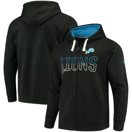 Detroit Lions NFL Pro Line by Fanatics Branded Iconic Fleece Full-Zip Hoodie - Black