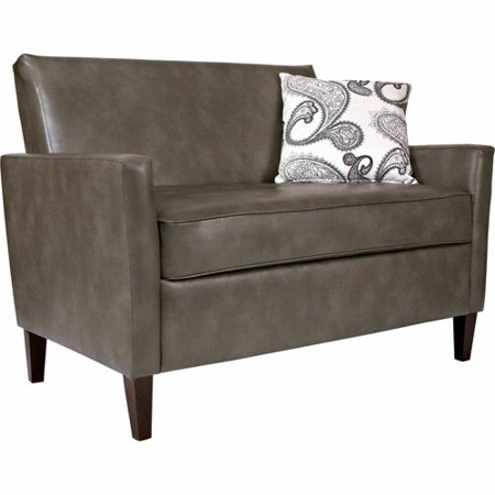 Angelo Home Sutton Loveseat Renu Leather Gray Bark
