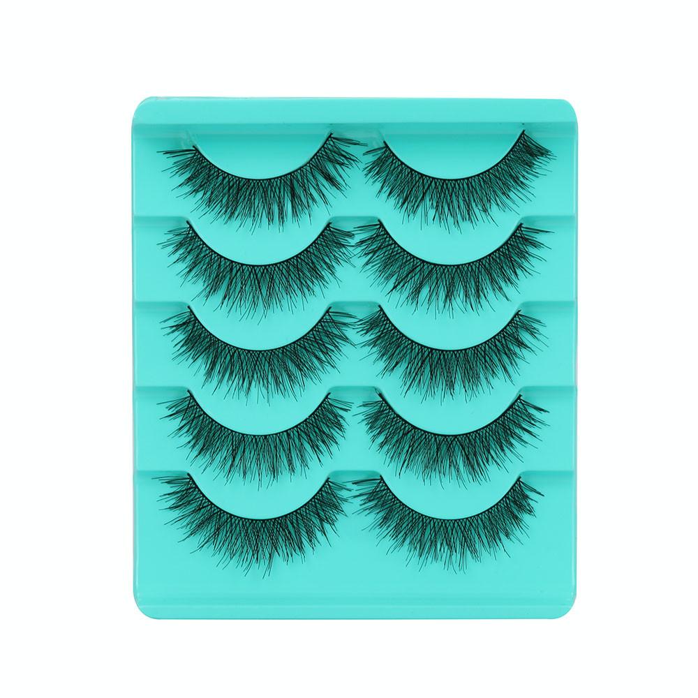 Outtop Big sale! 5 Pair/Lot Crisscross False Eyelashes Lashes Voluminous Hot Eye Lashes