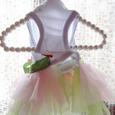 Spring Summer Pet Dog Dress Clothes With Big Sunflower Cute Princess Skirt Wedding Ball Gown Party Dress Pet Supplies - image 5 de 7