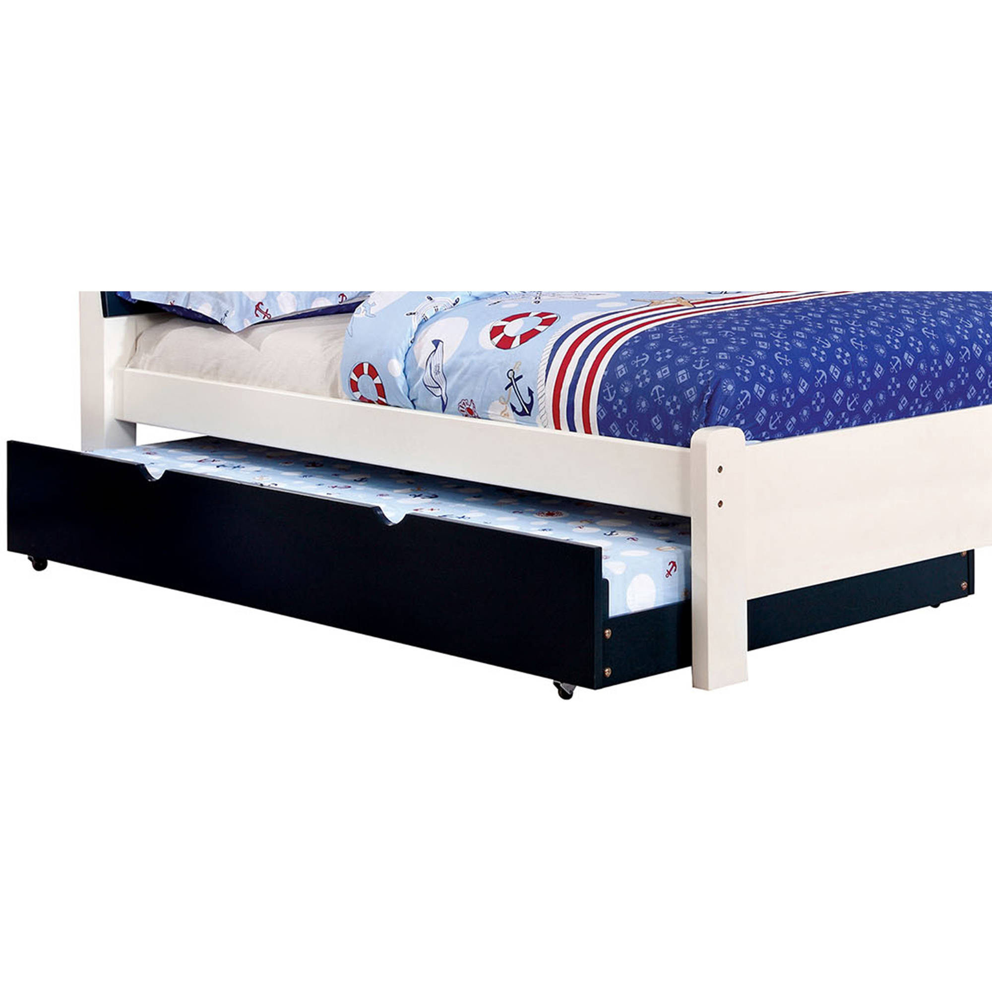 Kimmel Twin Trundle Bed, Blue by