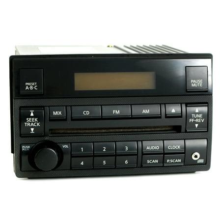(Nissan Altima 2005-06 Radio AM FM CD Player w Aux Input Spd Vol Ctrl 28185ZB10B - Refurbished)