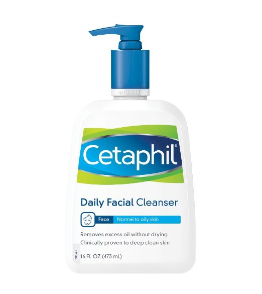 Cetaphil Normal to Oily Skin Daily Facial Cleanser, 16.0 FL OZ