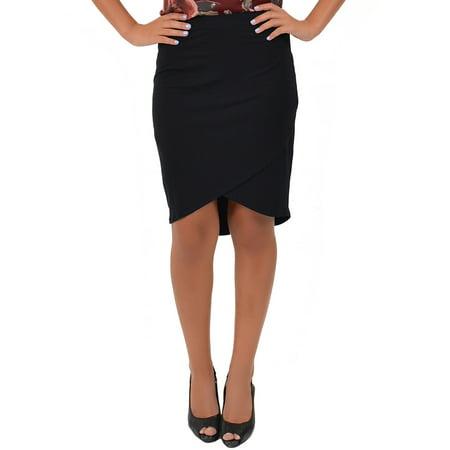 Women's Tulip Skirt - Small (0-2) / Black Knit Tulip Skirt