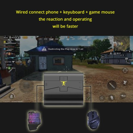 G1X PUBG Mobile Gamepad Controller Gaming Keyboard Mouse Android Phone to PC Converter Adapter for i-Phone Converter + keyboard + mouse - image 7 de 7