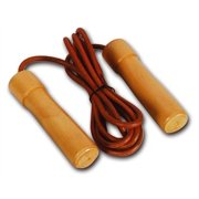 Leather Jump Rope w Wood Handles