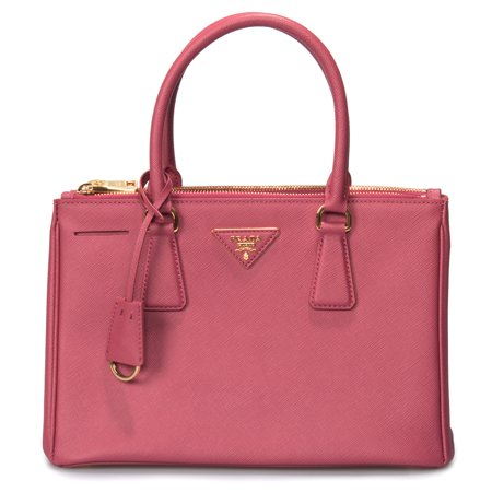 Prada Boston Bag - Prada Galleria Saffiano Small Leather Bag in Fuchsia