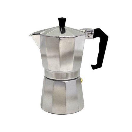 Alpine cuisine 9 cup aluminum espresso maker for Alpine cuisine coffee cups