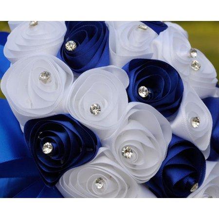 Crystal Roses Pearl Bridesmaid Wedding Bouquet Bridal Artificial Silk Flowers BU - Pearl Flowers