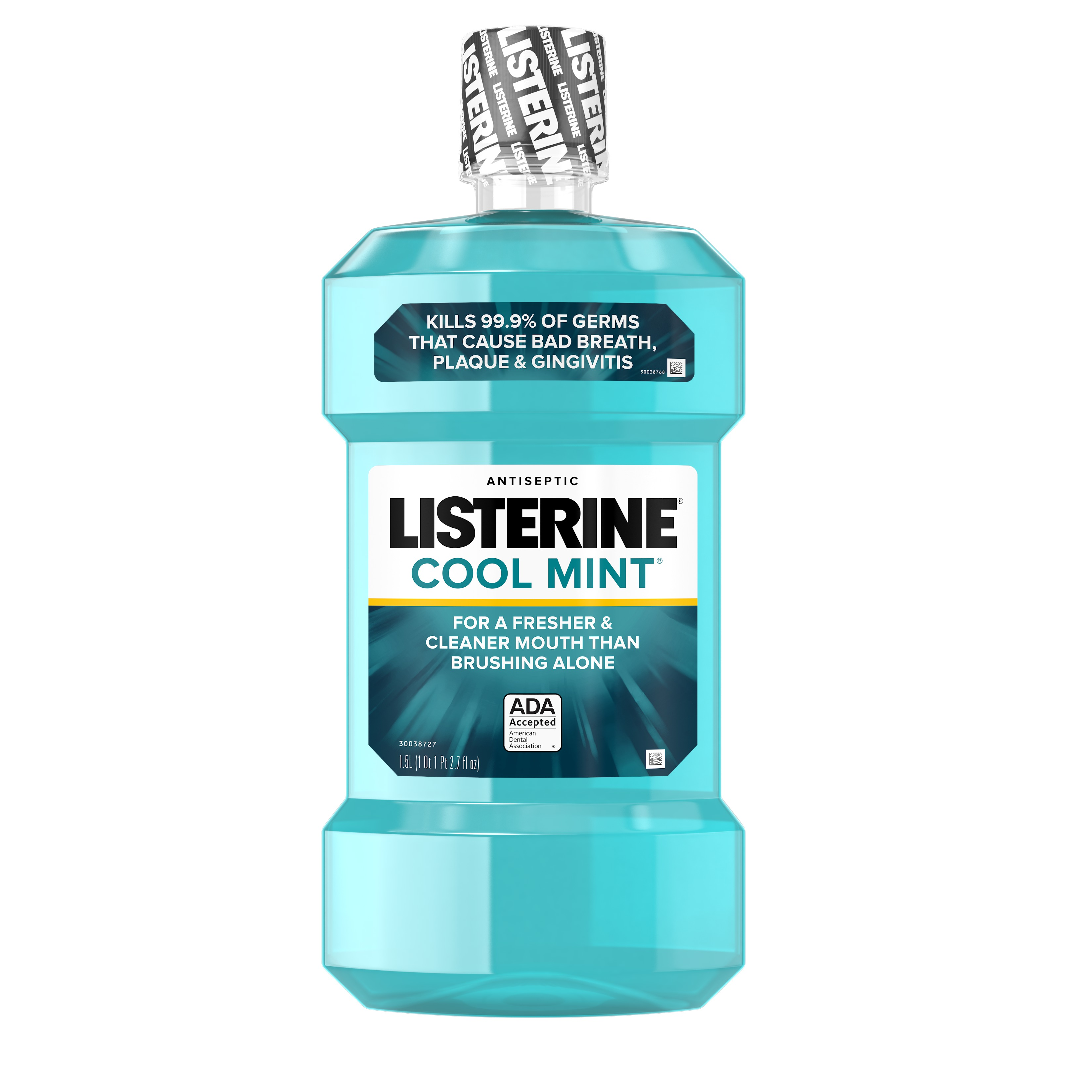 (2 Pack) Listerine Cool Mint Antiseptic Mouthwash for Bad Breath, 1.5 L