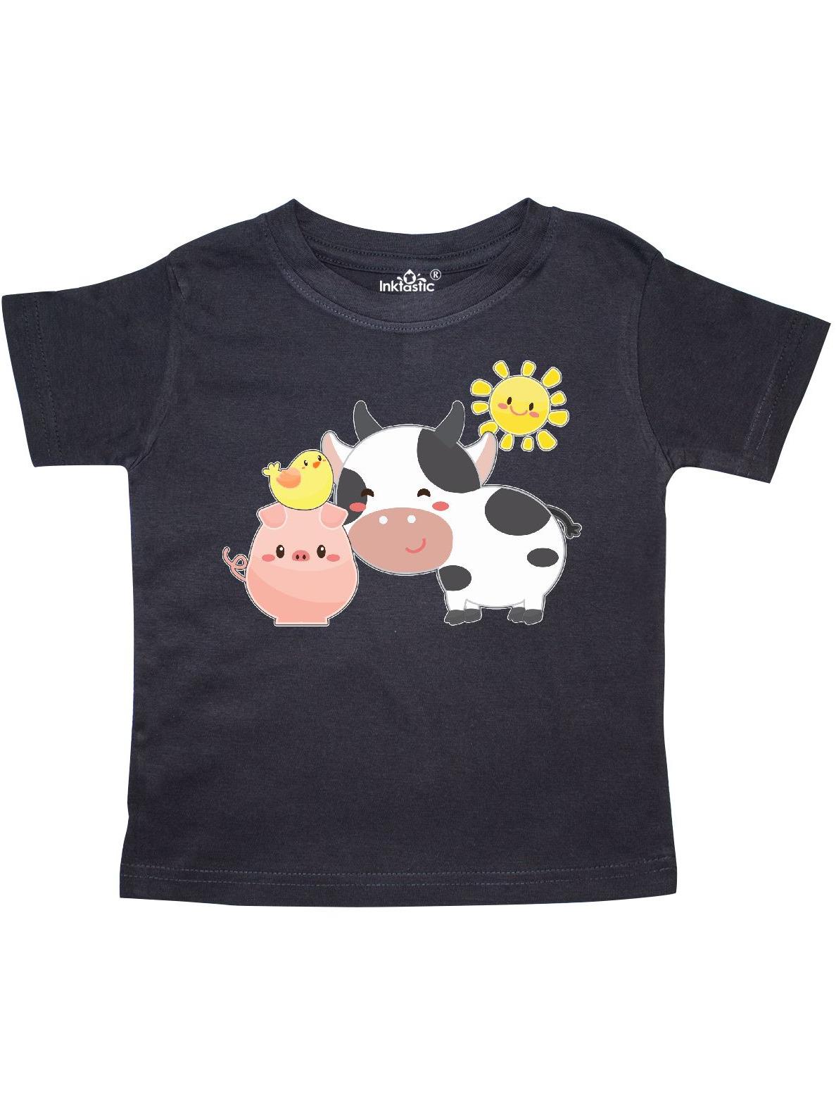 Fun Farm Animals- cow, pig, chick Toddler T-Shirt