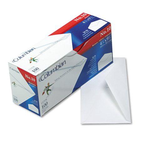 Columbian Jumbo Envelope - Columbian Gummed Flap Business Envelope, #9, 3 7/8 x 8 7/8, White, 500/Box