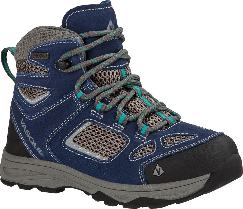 Breeze III UltraDry Hiking Boot Kids' Crown Blue Columbia, 5.0, Supple suede leather uppers with nylon inserts keep... by