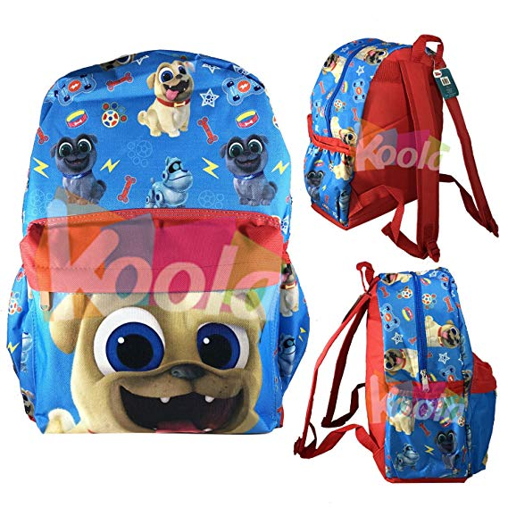 New Disney/'s Puppy Dog Pals 12/'/' Toddler Size Book Backpack Side Pocket Licensed