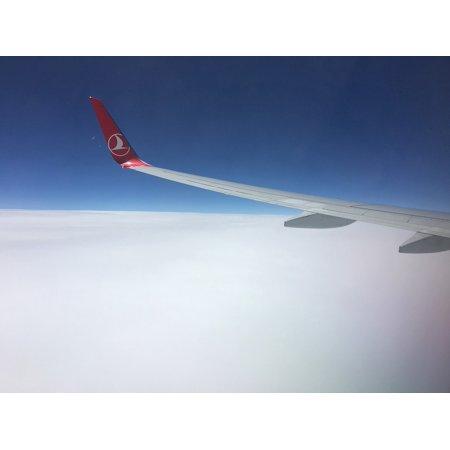 Laminated Poster Turkish Plane Turkey Turkish Airlines Flight Poster Print 24 X 36