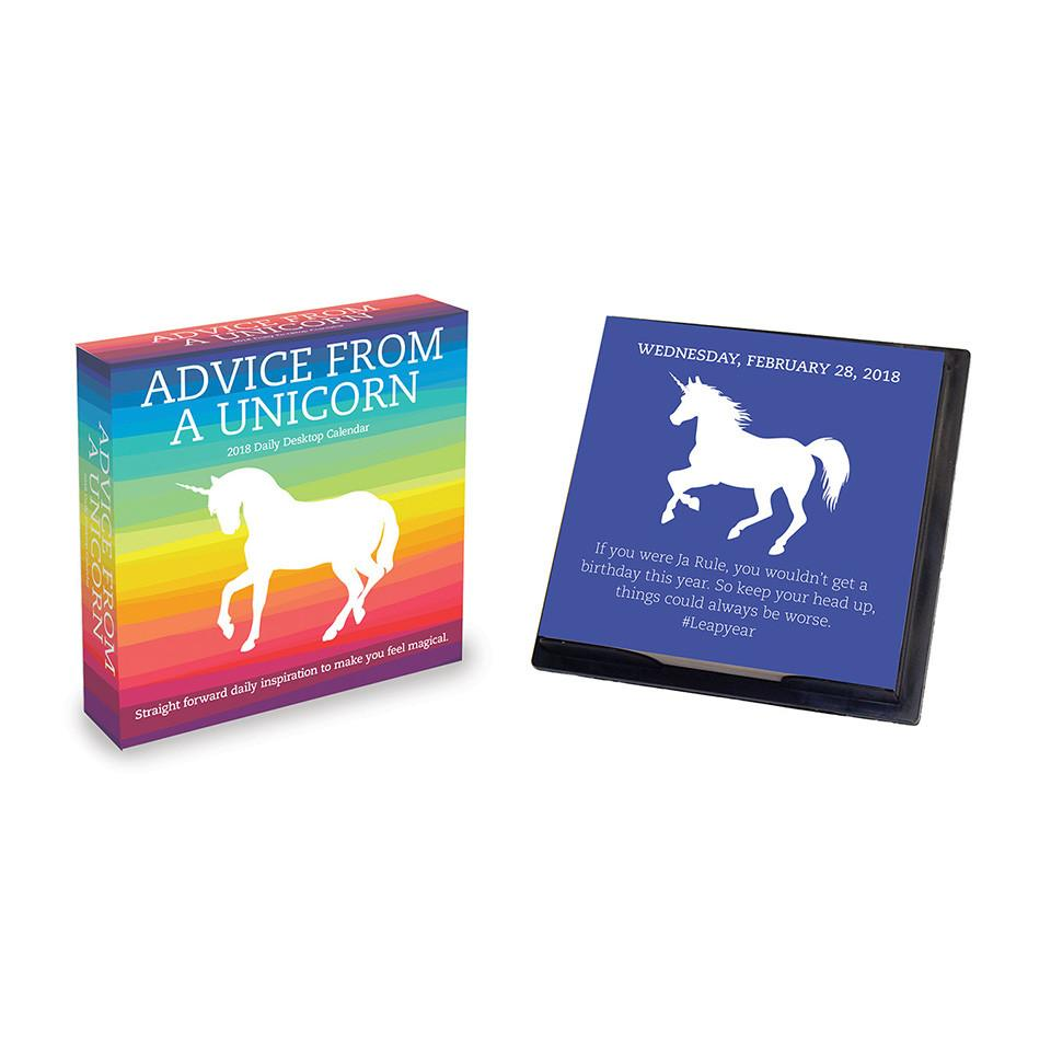 2018 Advice from a Unicorn Daily Desktop Calendar by TF Publishing