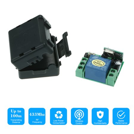 DC 12V 1CH 433MHz Universal Wireless Relay RF Receiver Module For 1527 Learning Code Transmitter Remote